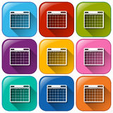 Phone calendar icons Stock Photo