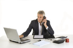 Phone call. At the office Royalty Free Stock Images