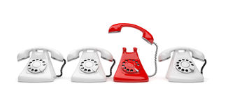 Phone call 3D. Business concept. vector illustration