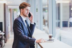 Phone call, business communication royalty free stock photos