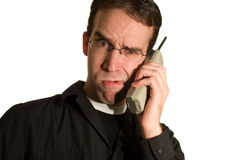 Phone Call Confusion Royalty Free Stock Photography