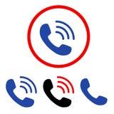 Phone Call Flat Icons Royalty Free Stock Photos