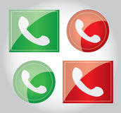 Phone Call  Icon design element illustration Royalty Free Stock Photography