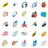 Phone call icons set, isometric style Royalty Free Stock Photos