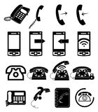Phone call icons set Stock Images