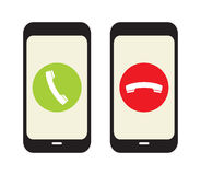 Phone Call  Icons Stock Image