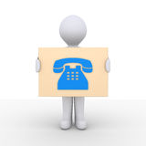 Phone call information Royalty Free Stock Photos