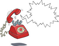 Phone call. The phone rings on a white background Stock Photography