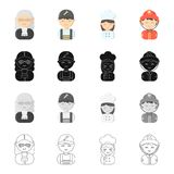 Phone, calls, hobbies and other web icon in cartoon style.Helmet, flashlight, professions icons in set collection. Phone, calls, hobbies and other  icon in Royalty Free Stock Images
