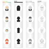 Phone, calls, hobbies and other web icon in cartoon style.Helmet, flashlight, professions icons in set collection. Phone, calls, hobbies and other  icon in Royalty Free Stock Image
