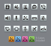 Phone Calls Interface Icons -- Satinbox Series Royalty Free Stock Photography