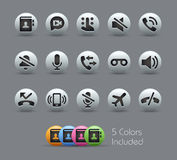 Phone Calls Interface Icons Stock Photography