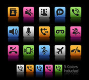 Phone Calls Interface Icons Royalty Free Stock Images