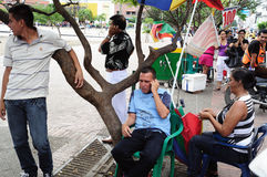 Phone calls - Neiva .Colombia. Phone calls . Plaza Civica - Los Libertadores in NEIVA. Department of Huila. COLOMBIA royalty free stock photography