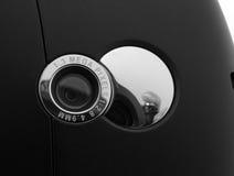 Phone camera. Mobile phone digital camera lens Stock Photography