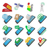Phone cartoon icons Royalty Free Stock Photography