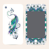 Phone case collection, delicate floral pattern Stock Image