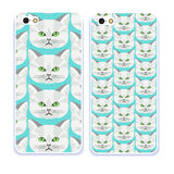 Phone case collection.Detailed realistic hand drawn british cat portrait. Vector illustration. Set of isolated drawing kitten heads and faces some breeds Royalty Free Stock Images