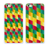 Phone case collection.Vector retro colorful geometry pattern. Abstract geometric background, trendy multicolored print, retro texture, hipster fashion design Royalty Free Stock Images