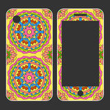 Phone case design. Hand drawn background. Islam, Arabic, Indian,. Ottoman motifs. Mobile phone decals Royalty Free Stock Image
