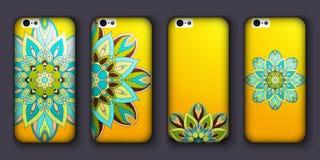 Phone case design set. Vintage decorative elements. Hand drawn background. Islam, Arabic, Indian, ottoman motifs. vector illustration