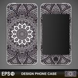 Phone case design. Vintage decorative elements Royalty Free Stock Image
