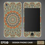 Phone case design. Vintage decorative elements Royalty Free Stock Photography