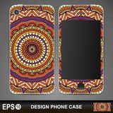 Phone case design. Vintage decorative elements Stock Photography