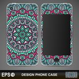 Phone case design. Vintage decorative elements Stock Images