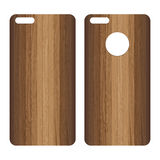 Phone case. Lath boards background. Texture background Vector Illustration