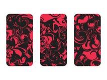 Phone case set. Marbling pattern set. Marbled paper watercolor. Grunge textures. Vector. Illustration vector illustration
