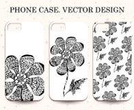 Phone case. Vintage vector background. Decorative floral element Royalty Free Stock Photos