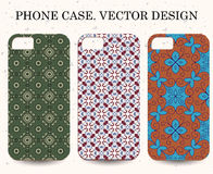 Phone case. Vintage vector background. Decorative ornamental ele Stock Photos