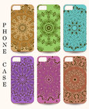 Phone case. Vintage vector background. Decorative ornamental ele Stock Images