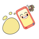 Phone character cartoon illustration Stock Image