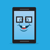 Phone Character Nerd Glasses Royalty Free Stock Photo