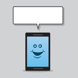 Phone Character Speech Bubble Stock Images