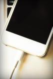 Phone charging Stock Photo