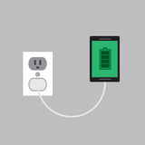 Phone Charging plug Royalty Free Stock Photos