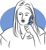 Phone Chat Stock Photography