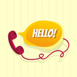 Phone with chat bubble Stock Photo