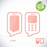 Phone Chat Illustration. With Green Sticker Royalty Free Stock Image