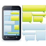 Phone Chatting Template. Vector Image Stock Photo
