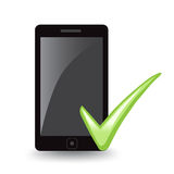 Phone Check Royalty Free Stock Images