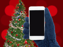 Phone and Christmas Royalty Free Stock Photo