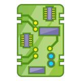 Phone circuit board icon, cartoon style Stock Photo