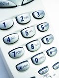 Phone close up - 4. Close up view of a cordless phone, showing numerical keypad stock image