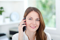 On the phone Stock Images