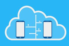 Phone and cloud computing. Illustration design Royalty Free Stock Photo
