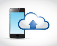 Phone cloud transfer connection illustration Stock Image